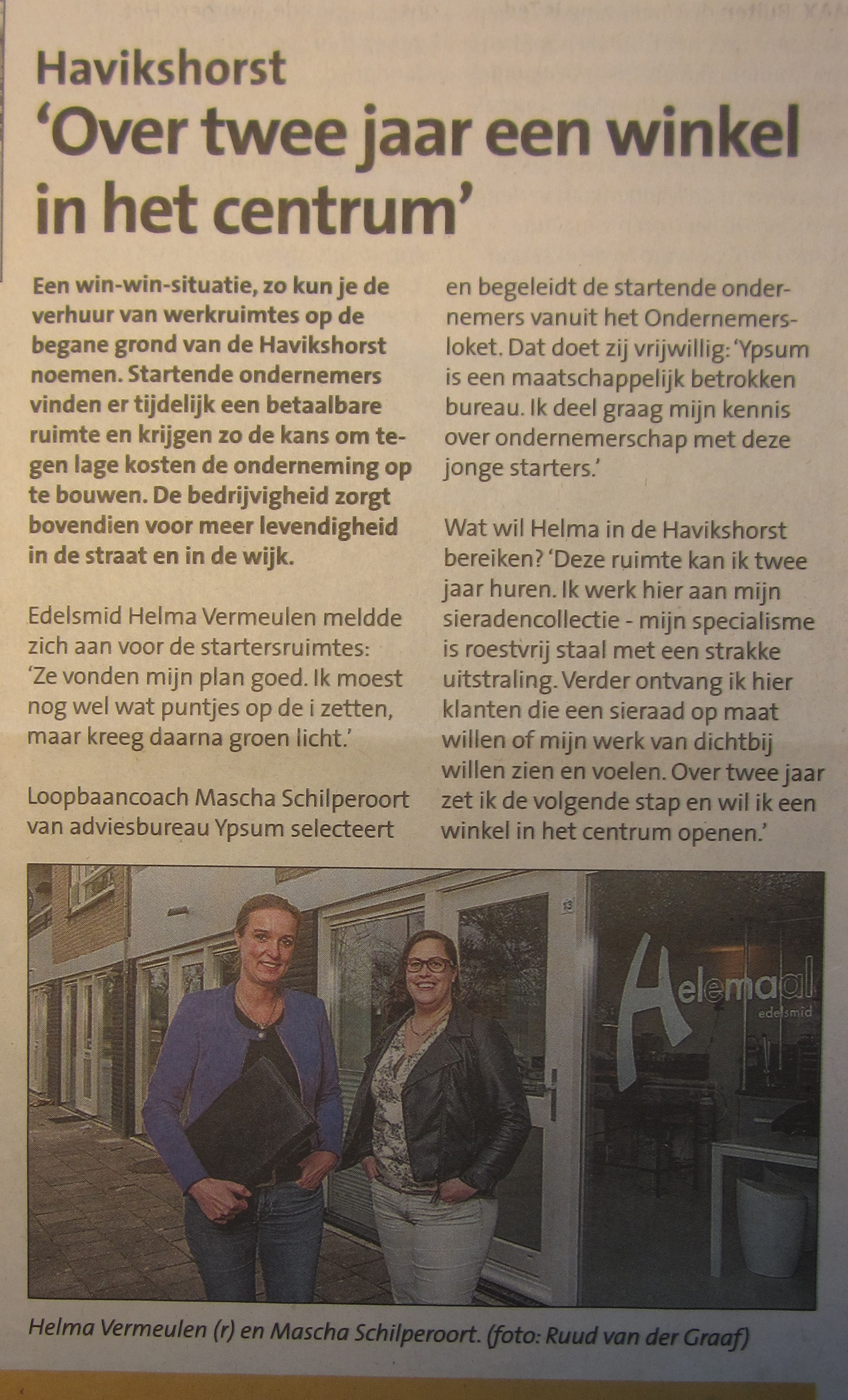 Over 2 jaar in het centrum
